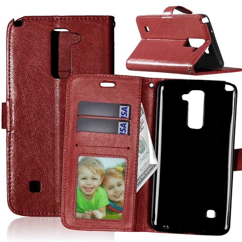 GANGXUN браун стиль классический флип обложка с функцией подставки и слот для кредитных карт для asus zenfone 3 zs550ml