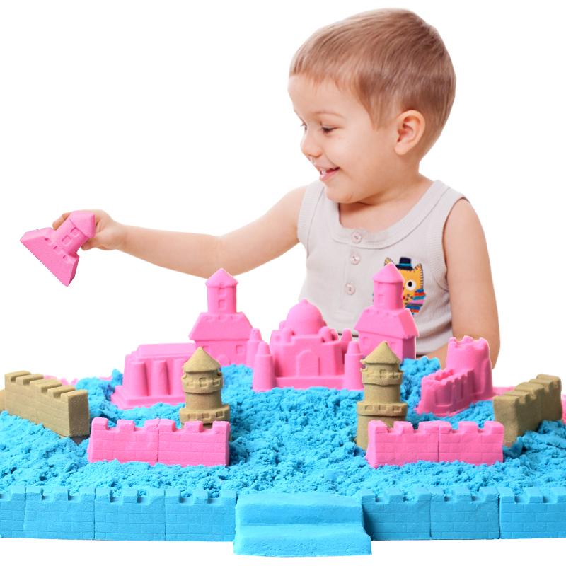 JD Коллекция 3 фунта загружены три-цветового пространства Жизнеспособность песка 1 peipei музыка peipeile цвет песка diy игрушки ручной работы дети играют дома игрушки глины песка песочного цвета 5 фунтов