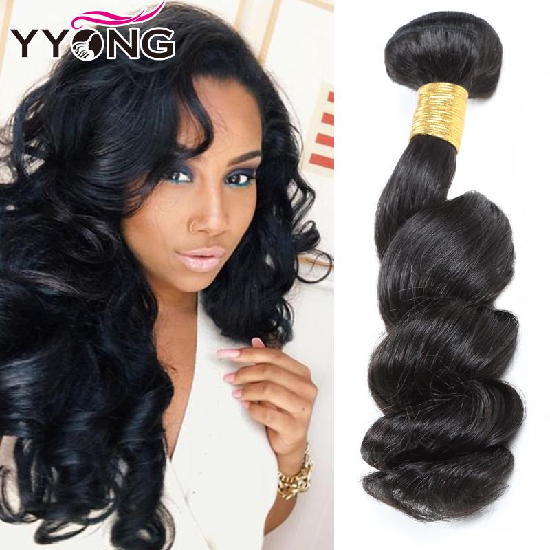 Перуанские девственные волосы Свободная волна Перуанская свободная волна девственные волосы 3 пучка YYONG Естественный цвет 10 10 12 фото
