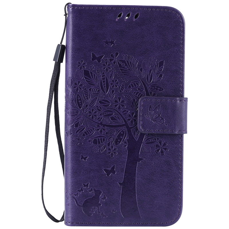 GANGXUN purple tree design pu кожа флип крышку кошелек карты держатель чехол для lg k4