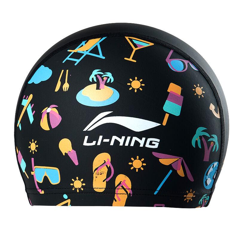 JD Коллекция Детская шапочка для плавания черного PU цветок дефолт для плавания