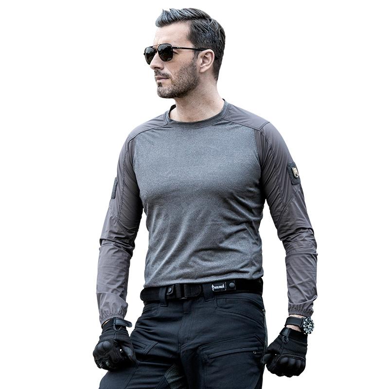FREE SOLDIER Серый цвет M анта женская воздухопроницаемая быстросохнущая футболка спортивная одежда