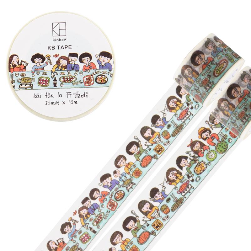 JD Коллекция 35мм 10м ужин друзей дефолт 1 5 3cm 5 7m classical style washi tape diy decoration scrapbooking planner masking tape adhesive tape label sticker stationery