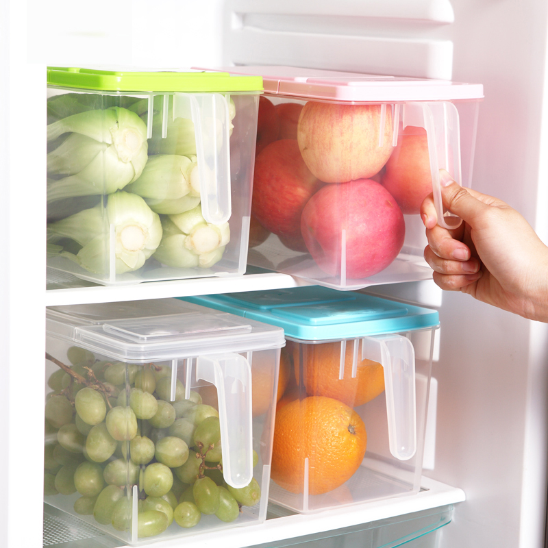 JD Коллекция Установить ящик для хранения холодильника дефолт edo косметика ящик для хранения ящик для хранения пластиковых шкафов для хранения ящик для хранения тетрадей th1158 blue
