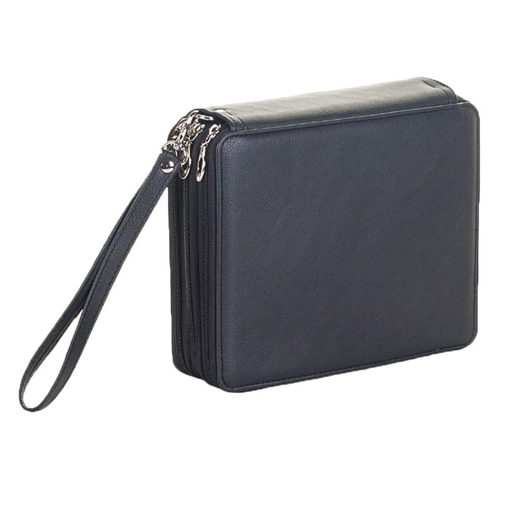 MyMei Чёрный цвет kicute 72 48 36 hole art sketch drawing pencil pen case storage bag pouch cosmetic zipper box holder colored pencil bag