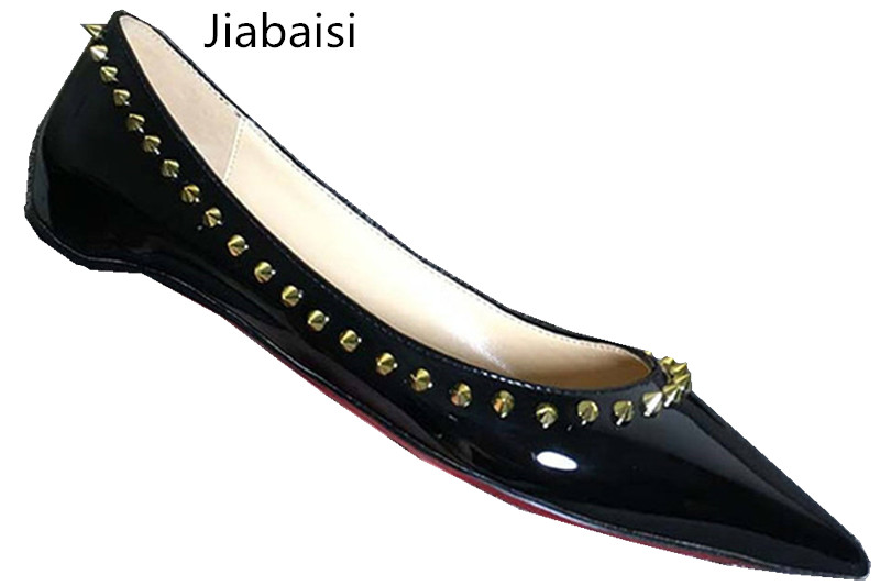 jiabaisi Чёрный цвет 8 ярдов 2017 women pointed toe patent leather office high heel shoes ladies pumps wedding party dress shoes 8 cm appliques