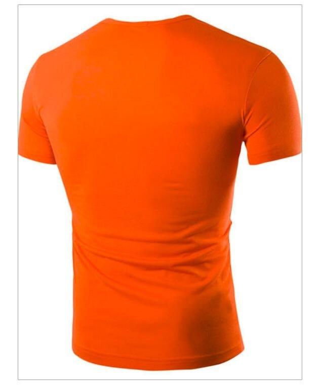 ZOGAA Оранжевый цвет Номер L графический дизайн