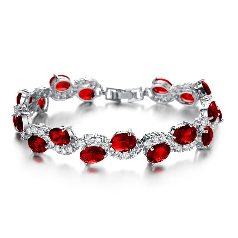 yoursfs красный модные браслеты 12 знак браслеты золото 18k platinum покрытием циркония ювелирные изделия шарма близнецы браслеты для женщин подарок на день рождения