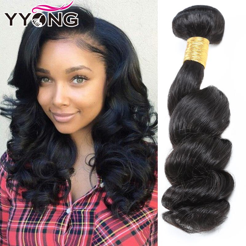 Перуанские девственные волосы Свободная волна Перуанская свободная волна девственные волосы 3 пучка YYONG Естественный цвет 16 16 16 фото