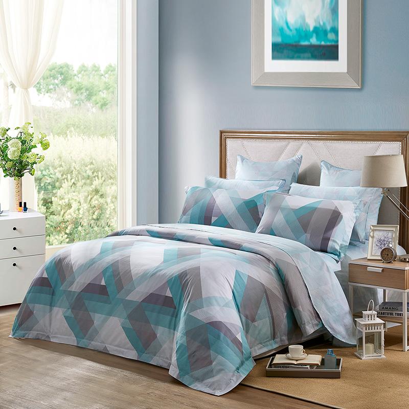 JD Коллекция небо 15 м кровать 200 230cm mercury постельные принадлежности набор 4 штуки простыня с набивной чехол на одеяло 100% хлопок