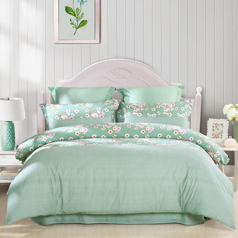 JD Коллекция Элегантный аромат 18 м кровать mercury постельные принадлежности набор 4 штуки простыня с набивной чехол на одеяло 100% хлопок