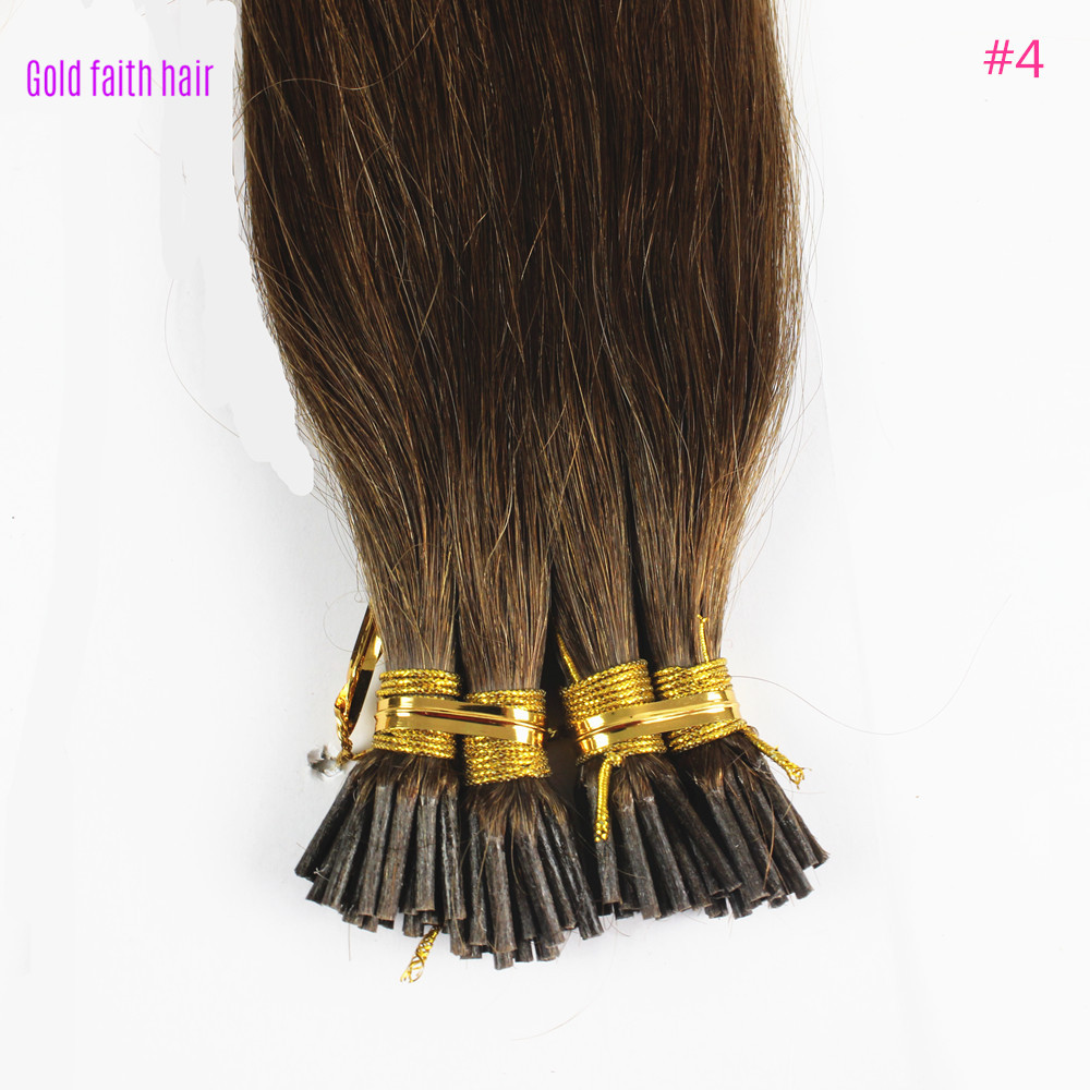 iwona 16 inches 1g s 100g human remy hair 8 light brown straight custom capsule keratin stick i tip fusion full human hair extensions