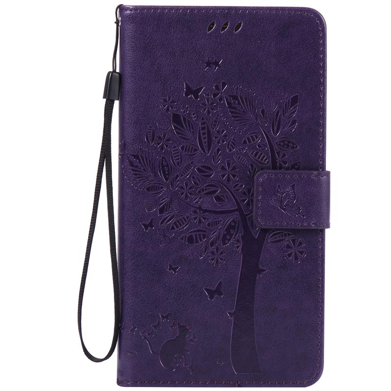 GANGXUN purple tree design pu кожа флип крышку кошелек карты держатель чехол для huawei mate 8