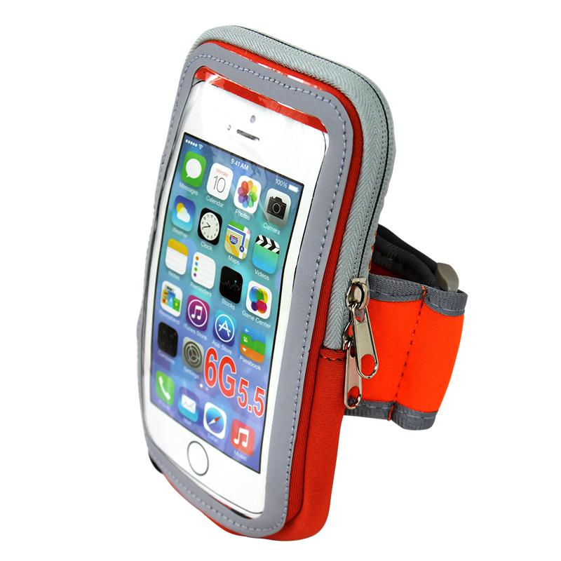 JD Коллекция Оранжевый сенсорный экран сумка на рукемобильного телефона