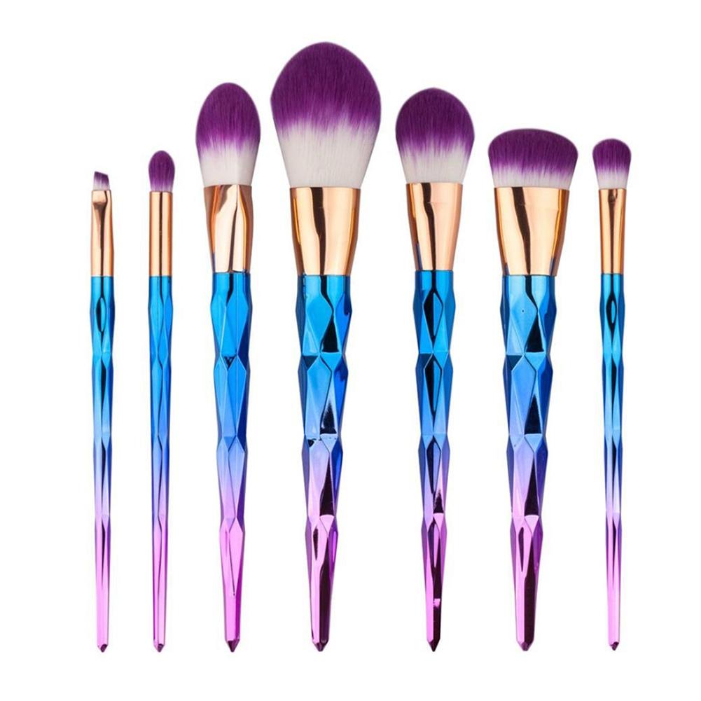 MyMei 2017 10pcs mermaid fish scale brush fishtail bottom brush powder blush makeup cosmetic brush pincel maquiagem sereia