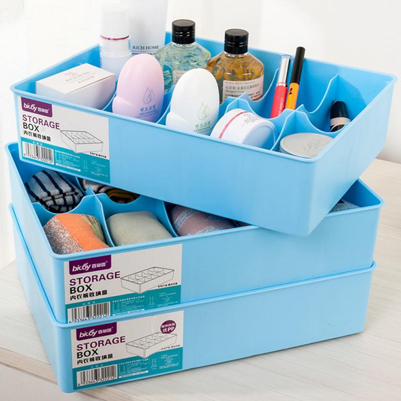 JD Коллекция 10 3 клеток прикреплены синее монолитным дефолт цин вэй прозрачный ящик для обуви толстый ящик сочетание из пластиковых ящик для хранения женских моделей 6 загружен синий