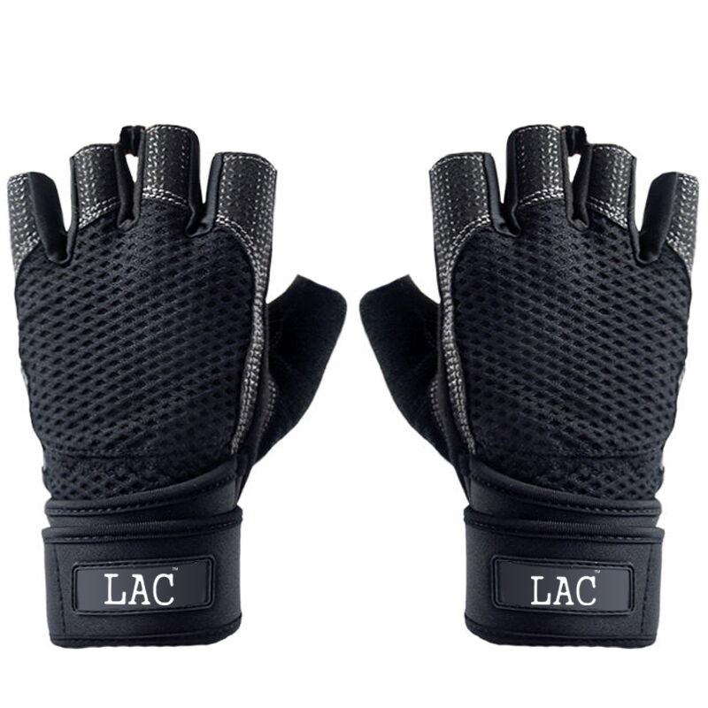 LAC Черный половины пальцев манжета улучшенная версия M дефолт улитка wonny js 013 фитнес перчатки половины пальцев перчатки скольжения мужские и женские фитнес оборудование перчатки черный xl