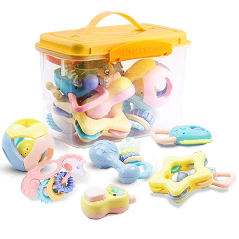 JD Коллекция Прорезыватель погремушка восемь нагруженных дефолт bmw серии детские игрушки автомобиля детские игрушки