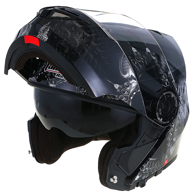 JD Коллекция второстепенный черный призрак ночи XL evomosa motocross helmet off road professional rally racing helmets men motorcycle helmet dot approved qanlity certified