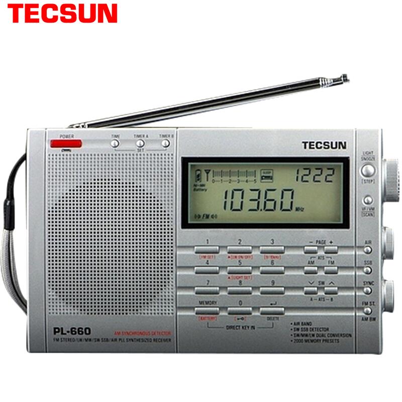 JD Коллекция PL-660 высокопроизводительный цифровой тюнер дефолт freeshipping tecsun pl 600 full band fm mw sw ssb pll synthesized stereo portable digital radio receiver pl600