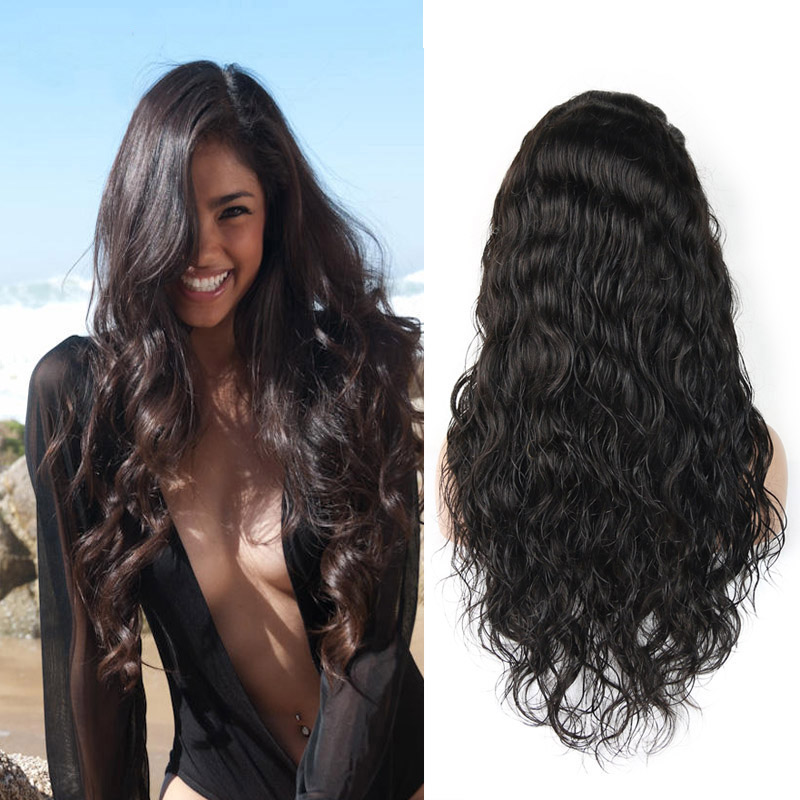 парик BOND 18 inches 130 density body wave brazilian virgin hair free part full lace wigs for black women