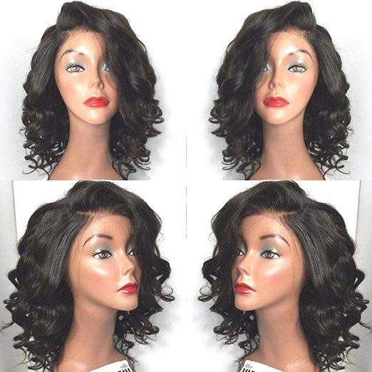 парик BOND 14 inches 130 density body wave glueless full lace human hair wigs brazilian virgin hair free part for black women