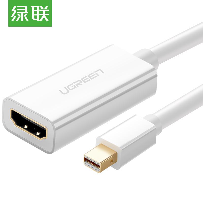 JD Коллекция Mini DP к HDMI белый кабель создание mini dp dp hdmi dvi тройной трансфицировал мини displayport адаптер конвертера подключены проекционный телевизор macbook белого cd0016