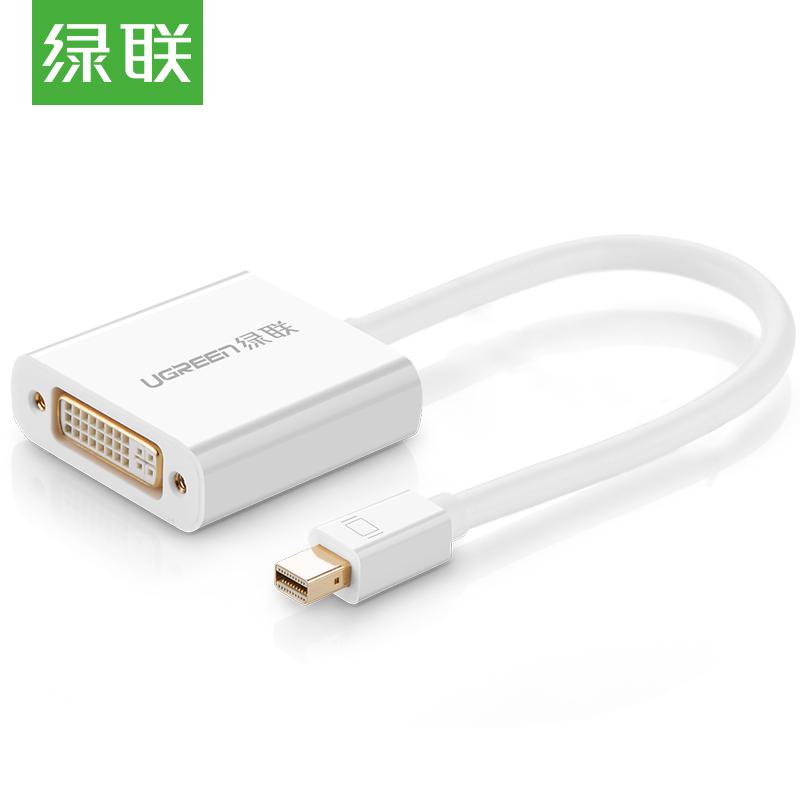 JD Коллекция Mini DP к DVI пассивный дефолт кабель создание mini dp dp hdmi dvi тройной трансфицировал мини displayport адаптер конвертера подключены проекционный телевизор macbook белого cd0016