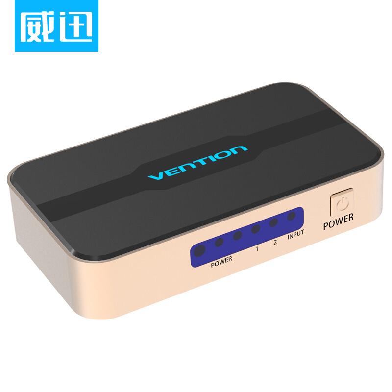 JD Коллекция сплиттер один на два 2K4K постоянный продукт pihen определение ph fpq003 hdmi диспенсер 1 в два 2k 4k видео в разделенном экране два цифровых видео с экраном черным hdmi1 4