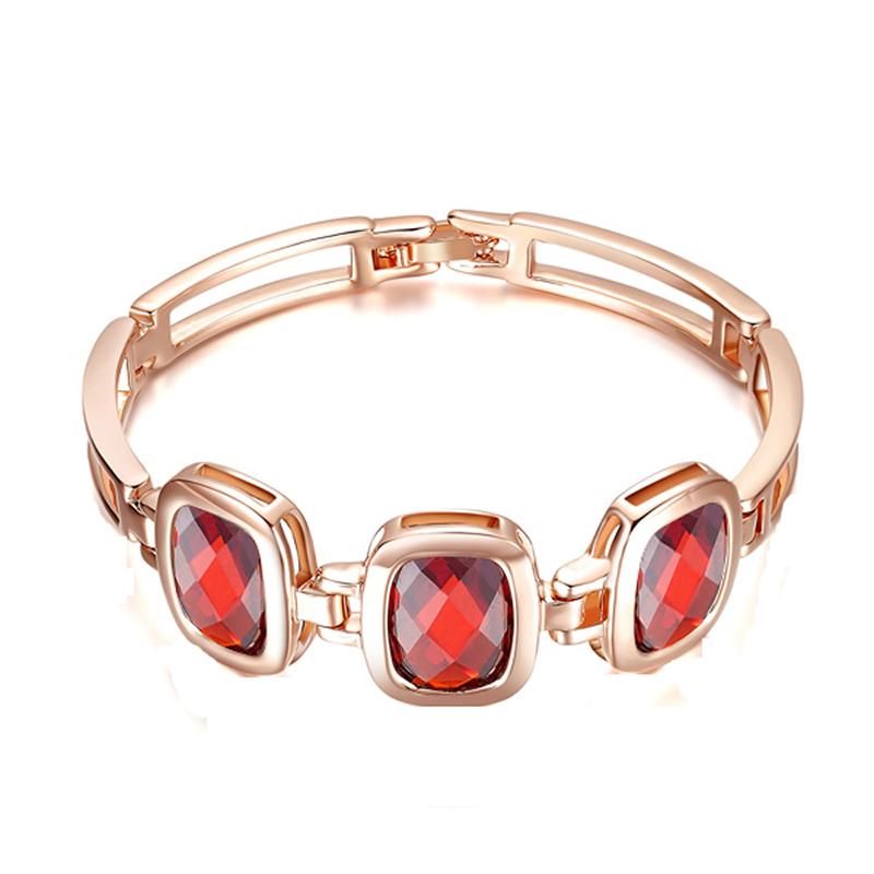 yoursfs Red u7 широкий браслет часов реального позолоченные моды мужчин украшения оптовой новой модной уникальный 1 5 см 20 см звено цепи браслеты