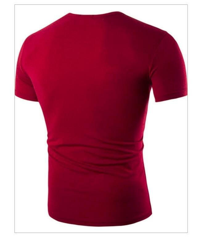 ZOGAA Красный цвет Номер L графический дизайн