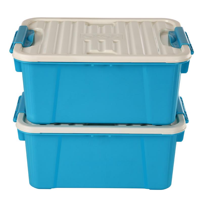 JD Коллекция Детские синий дефолт цин вэй прозрачный ящик для обуви толстый ящик сочетание из пластиковых ящик для хранения женских моделей 6 загружен синий