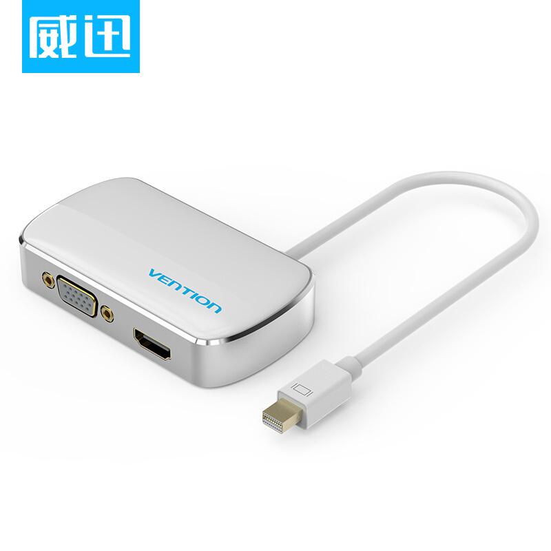 JD Коллекция Мини-DPметаллический 3 in 1 mini dp displayport thunderbolt to hdmi dvi vga adapter for macbook