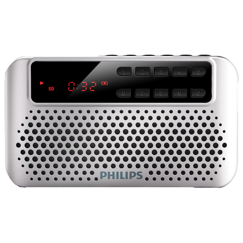PHILIPS серебро SBM120 philips docking speaker