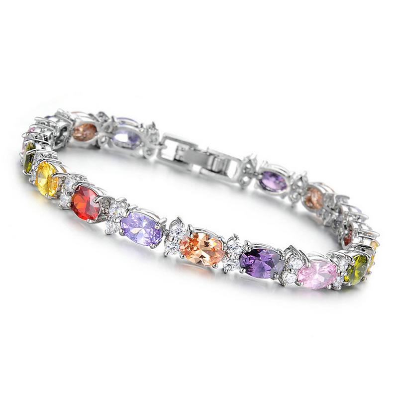 yoursfs Многоцветный модные браслеты 12 знак браслеты золото 18k platinum покрытием циркония ювелирные изделия шарма близнецы браслеты для женщин подарок на день рождения
