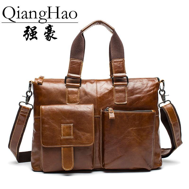 QiangHao Темно-коричневый 156 дюймов мужчина  кейс
