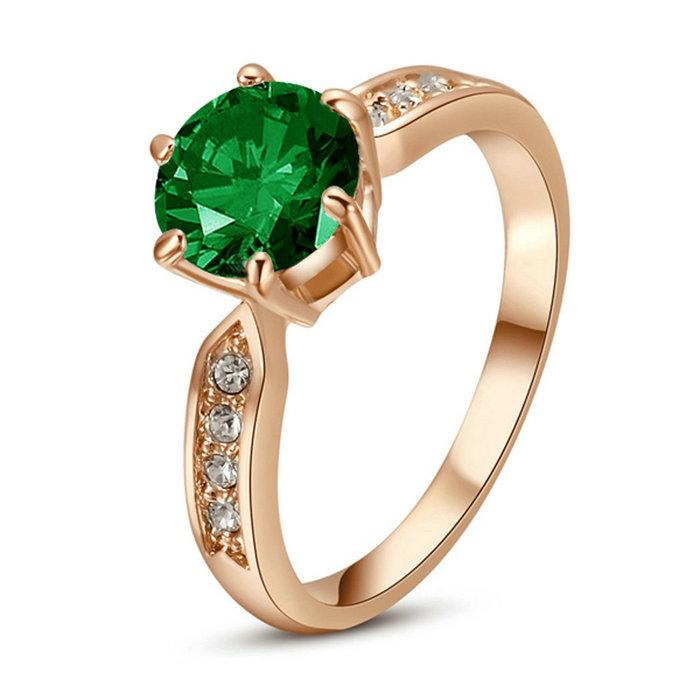 yoursfs Зеленый 6 yoursfs® 18k white gold plated 1 2ct simulated diamond promise rings используйте австрийские ювелирные украшения из кристалла