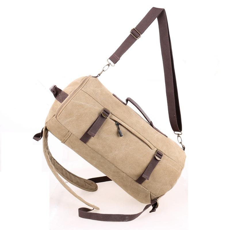 YEMIGE бежевый цвет ретро рюкзак мужчина пар рюкзак брезент сумка рюкзак для подростков туризм спортивная сумка кемпинг