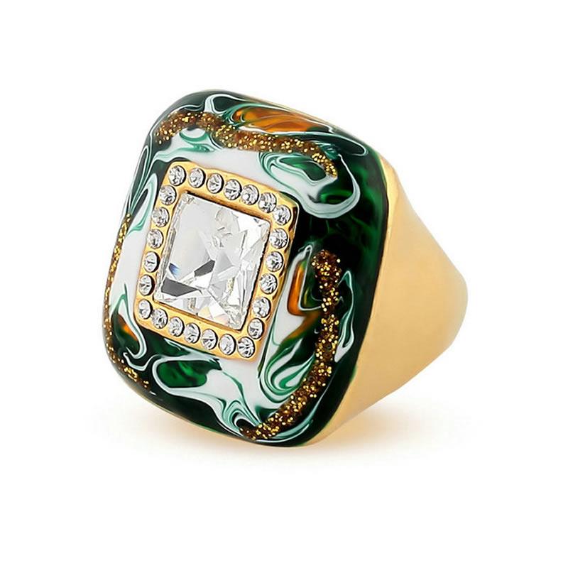 yoursfs зеленый 9 кольца