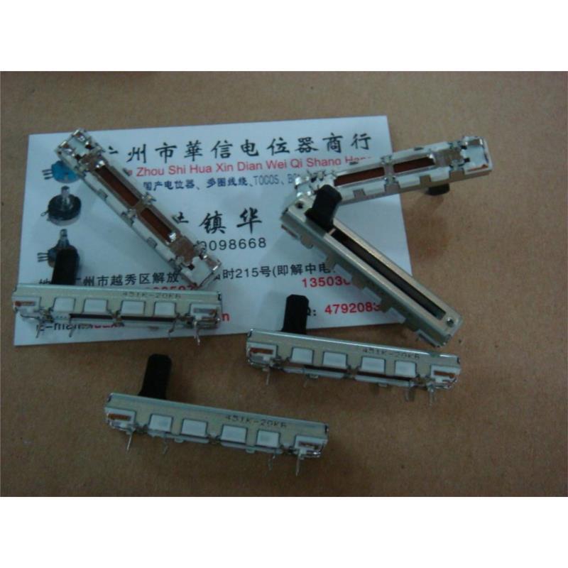CazenOveyi 3 5 cm straight double tap slide potentiometer b20k handle 10mm