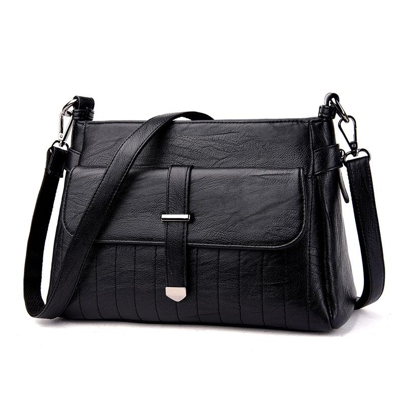 Kavard Черный женские кожаные дизайнеры высокое качество в полоску седло сумка женская винтажная сумка sac основной небольшая сумка сумки