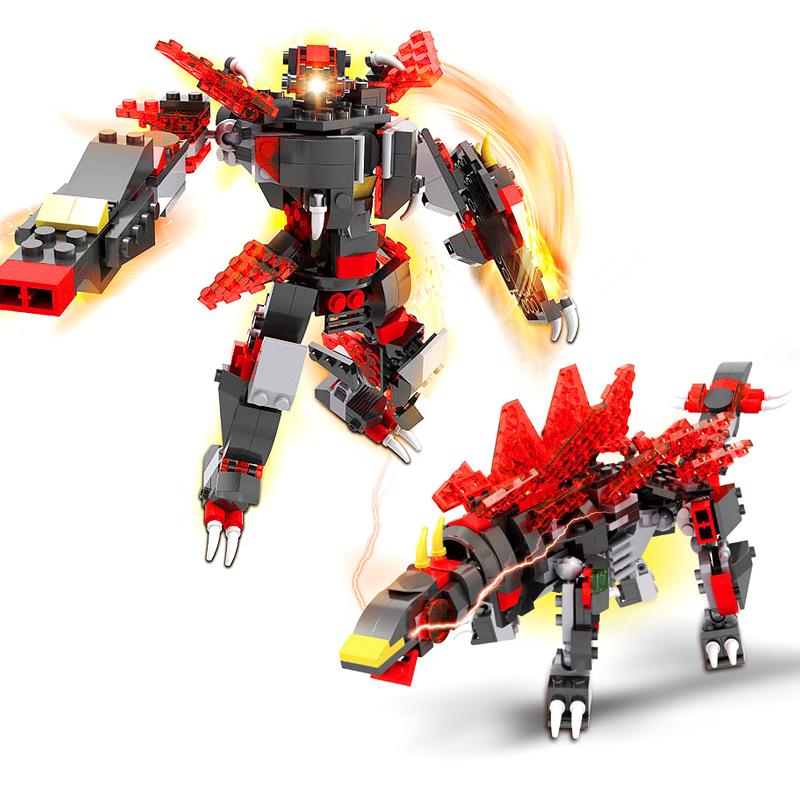 JD Коллекция Стегозавр животное Combo octa angle ru bun lock children puzzle toy building blocks