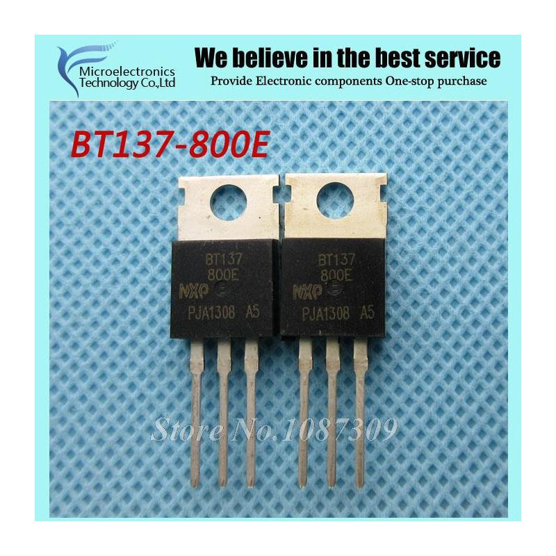 CazenOveyi free shipping 50pcs bt137 600e bt137 600 bt137 triacs logic level 600v 8a