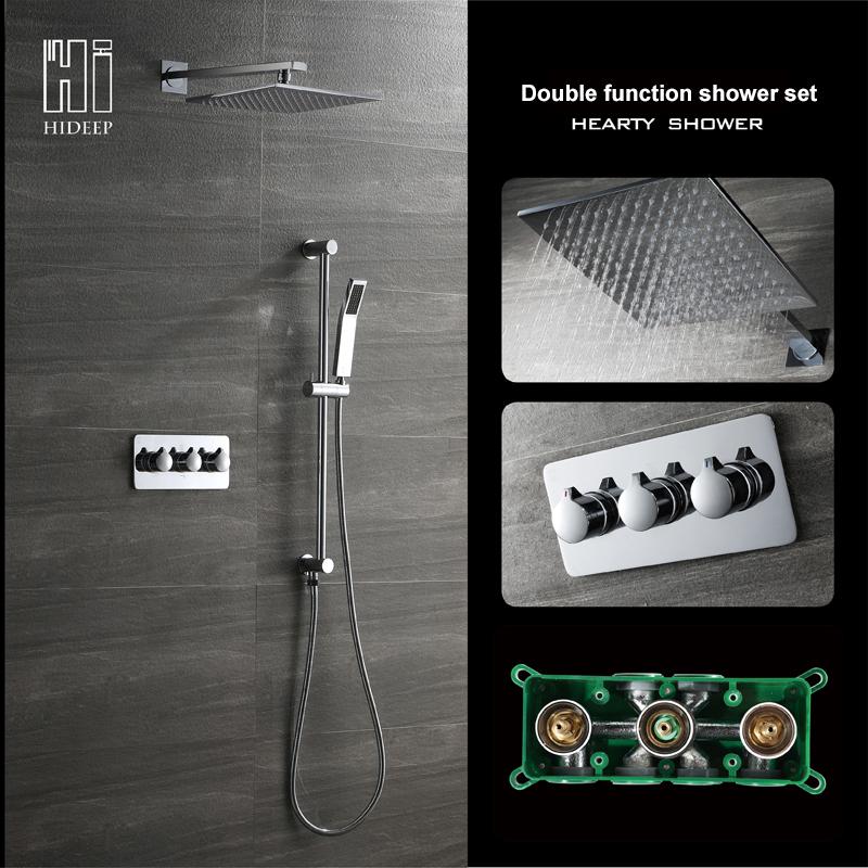 HIDEEP А1 включает в себя два горячих и холодных сверху опрыскиваниедуш открытая душевая кабина triton стандарт а1 90х90 белая