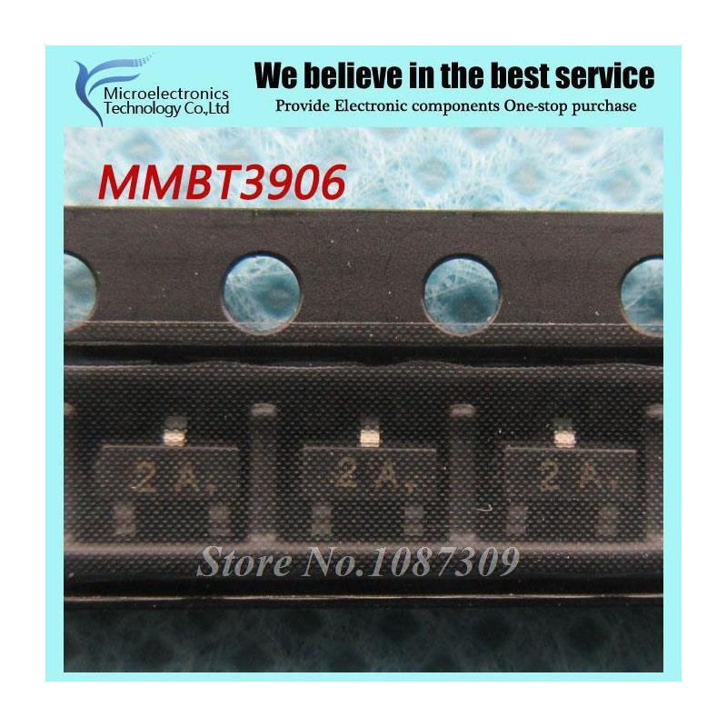 CazenOveyi 100pcs free shipping mmbt3906lt1g mmbt3906 2n3906 3906 sot23 3 0 2a 40v pnp new original