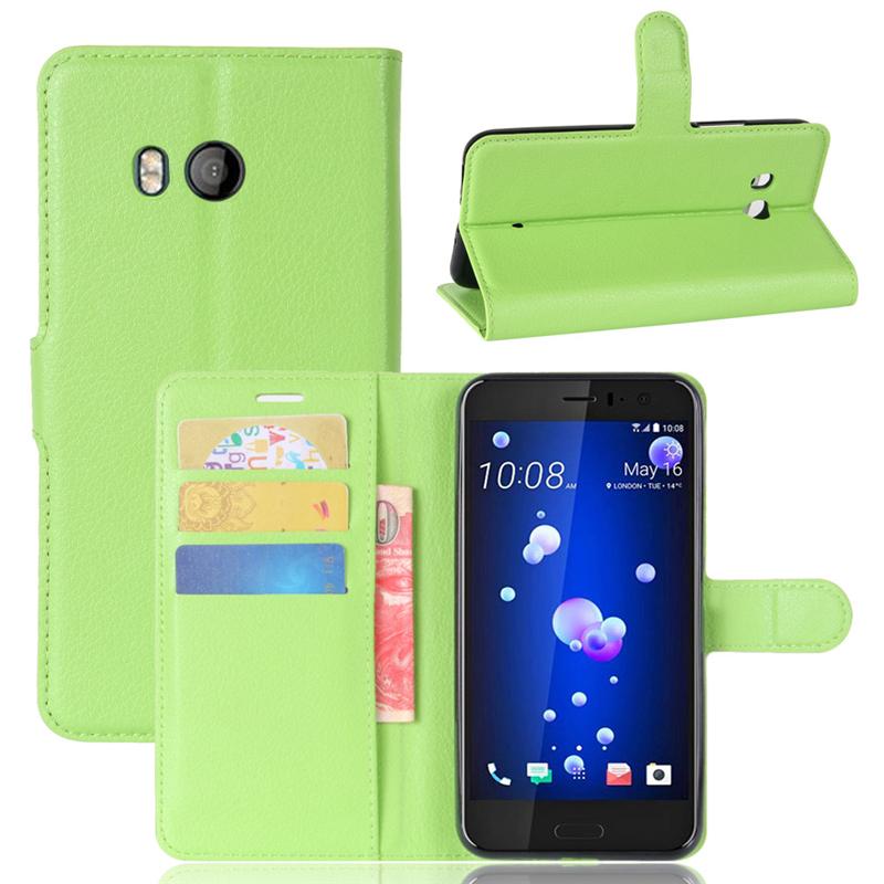 GANGXUN Зеленый gangxun htc u11 дело высокого качества кожа pu флип обложка kickstand anti шок кошелек для htc u11