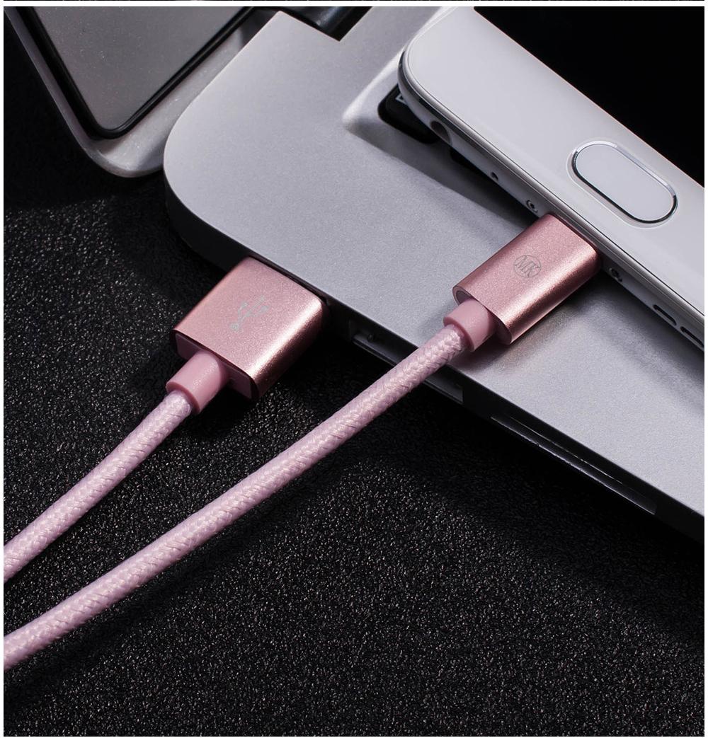 MK Розо-красный цвет 2M кабель
