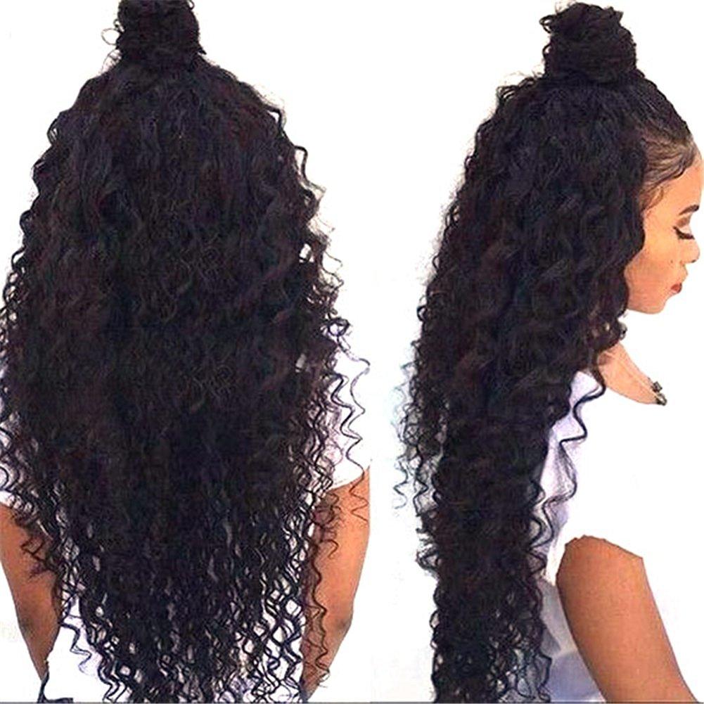 парик BOND 24 inches 180% density unprocessed full lace wigs long black wig glueless virgin brazilian hair curly wigs for fashion black women