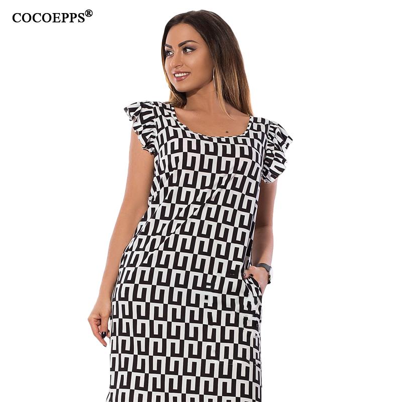 COCOEPPS Черный Номер 4XL платья bonne femme платье