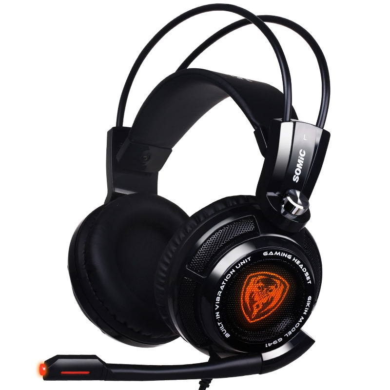 Somic G941 черный первое впечатление g15 гарнитура компьютерная гарнитура игровая игровая гарнитура высокая точность стерео с микрофоном черный